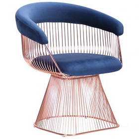 Кресло Roller, rose gold, royal blue (AMF-ТМ)