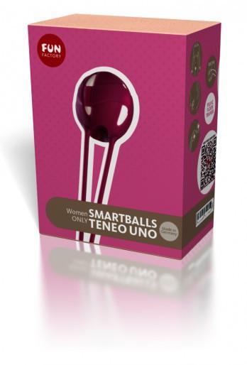 Вагинальный шарик Smartball Teneo Uno от Fun Factory, красный
