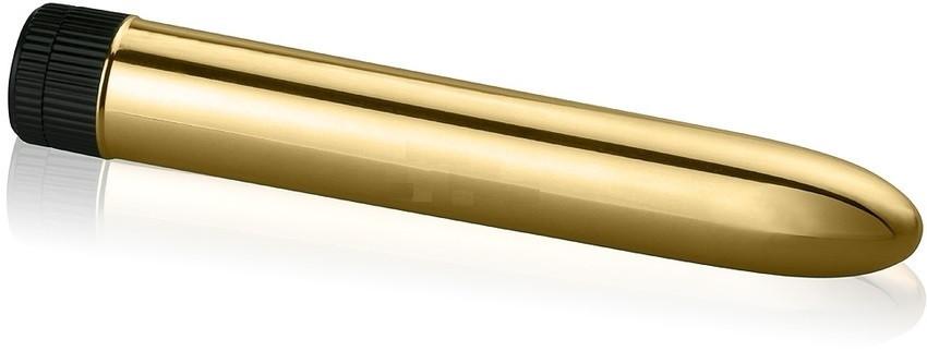 Классический вибратор Gopaldas Sensuously Smooth 17см., золотистый