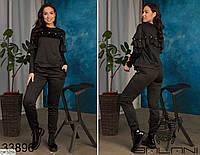 Женский спортивный костюм больших размеров, размеры 50-52, 54-56, 58-60