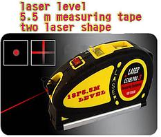 Уровень лазерный с рулеткой 5.5 м. Laser Level Pro 3 LV . Универсальный