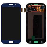 Дисплейный модуль (дисплей + сенсор) для Samsung Galaxy S6 G920F, синий, оригинал
