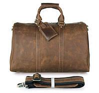 Дорожная сумка прочная из кожи
