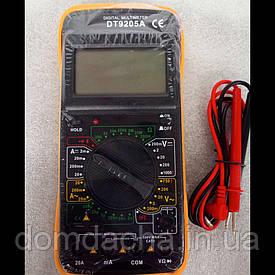 Профессиональный мультиметр Digital DT9205A тестер вольтметр амперметр