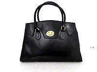 Стильная женская сумка 100% натуральная кожа. Черный