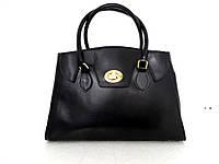 Стильная женская сумка 100% натуральная кожа. Черный, фото 1