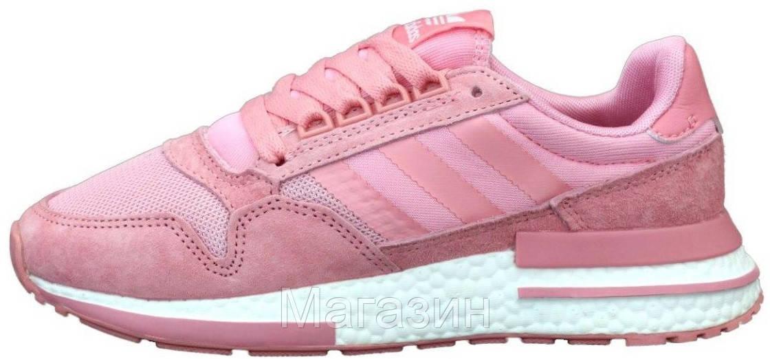 Женские кроссовки adidas ZX 500 Pink Адидас ZX 500 розовые