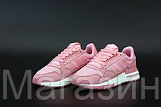 Женские кроссовки adidas ZX 500 Pink Адидас ZX 500 розовые, фото 3