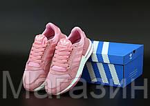 Женские кроссовки adidas ZX 500 Pink Адидас ZX 500 розовые, фото 2