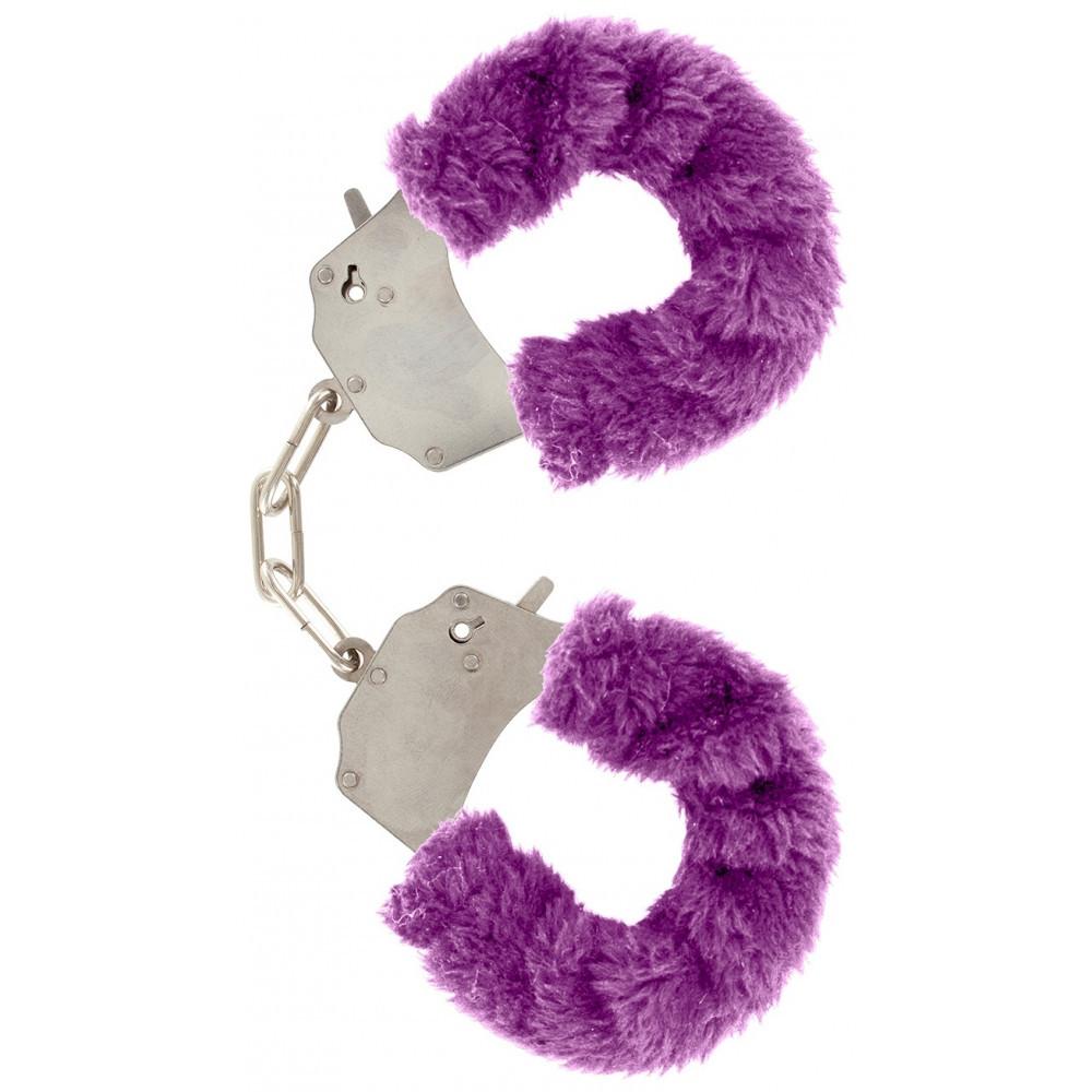 Качественные наручники Toy Joy (Голландия) Furry Fun, фиолетовые