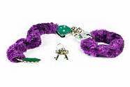 Качественные наручники Toy Joy (Голландия) Furry Fun, фиолетовые, фото 3