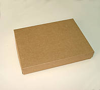 Коробка подарочная из крафт картона, 200х150х30 мм.