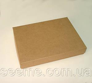 Коробка подарочная из крафт картона, 255х180х30 мм.