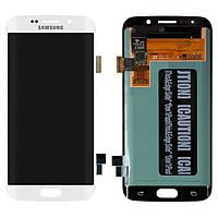 Дисплейный модуль (дисплей + сенсор) для Samsung Galaxy S6 EDGE G925F, белый, оригинал