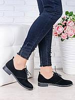 Туфли черная замша Эвелин 7004-28, фото 1
