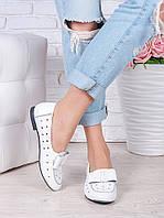Туфли белые кожаные Bant (лето) 7039-28, фото 1
