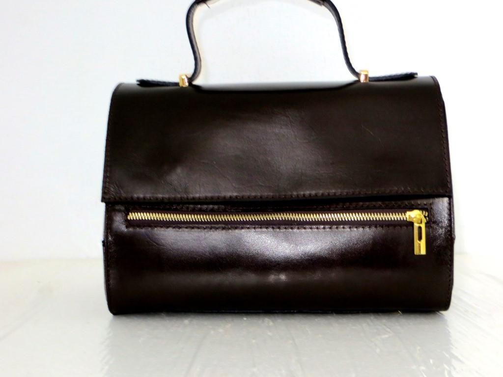 Стильная женская сумка 100% натуральная кожа.Италия. Шоколадный.