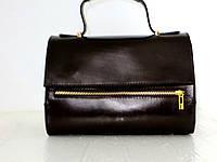 Стильная женская сумка 100% натуральная кожа.Италия. Шоколадный., фото 1