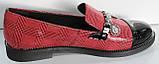 Туфли женские на низком каблуке от производителя модель КЛ2001, фото 3
