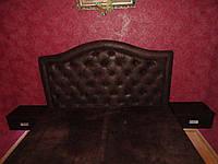 Двуспальная кровать шоколад с подсветкой, фото 1