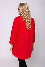 Красная рубашка больших размеров Перфект, фото 3