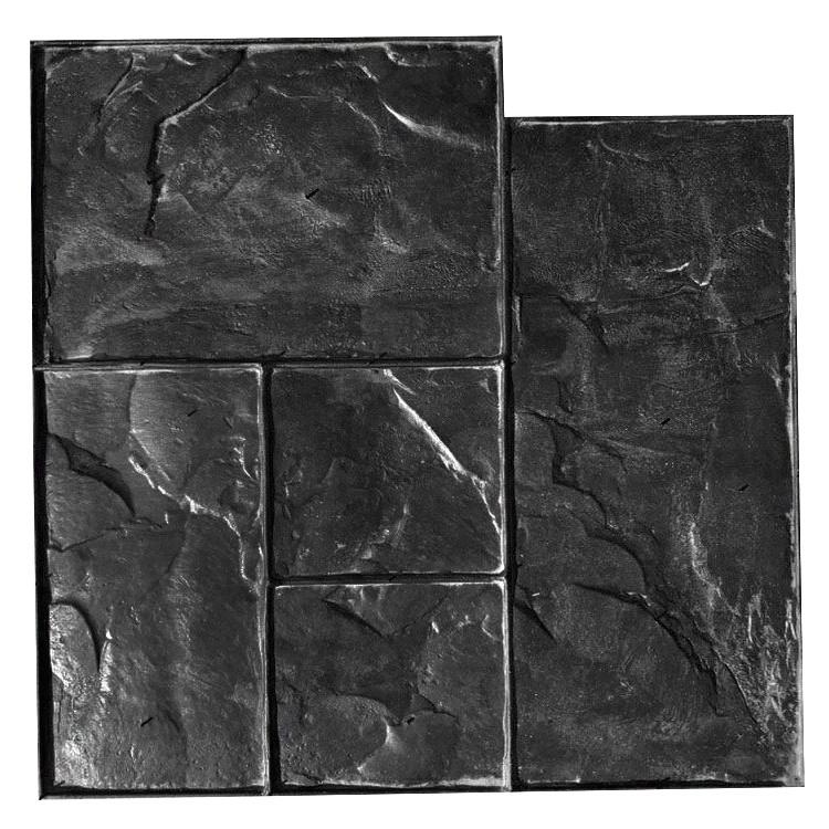 Тёсаный камень №1 - 580*580 мм; профессиональный резиновый штамп для горизонтальной печати по бетону