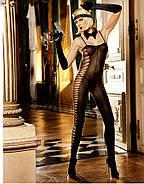 Эротический комбинезон Sheer Jacquard Bodystocking от BACI Lingerie, фото 2