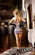 Обаятельный пеньюар Zebra Lace Tube Dress от BACI Lingerie, фото 2
