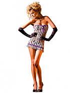 Обаятельный пеньюар Zebra Lace Tube Dress от BACI Lingerie, фото 4