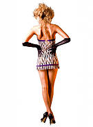 Обаятельный пеньюар Zebra Lace Tube Dress от BACI Lingerie, фото 5