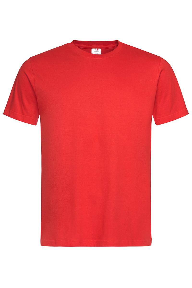 Футболка мужская красная с круглым вырезом Stedman - SRECT2000