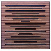 Акустическая панель Ecosound EcoWave Venge Contrast 50x50см 53мм цвет коричневый в полоску, фото 1