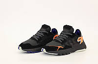 Мужские черные Кроссовки Adidas Nite Jogger (реплика)