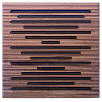 Акустическая панель Ecosound EcoWave Venge Contrast 50x50см 33мм цвет коричневый в полоску, фото 1
