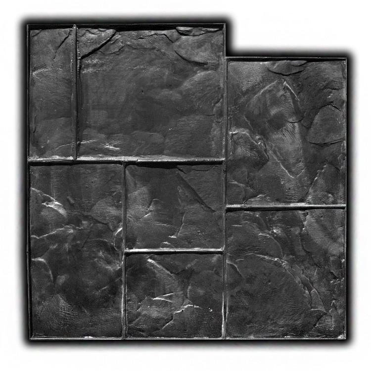 Тёсаный камень №2 - 580*580 мм; профессиональный резиновый штамп для горизонтальной печати по бетону