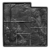 Тёсаный камень №2 - 580*580 мм; профессиональный резиновый штамп для горизонтальной печати по бетону, фото 1