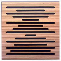 Акустична панель Ecosound EcoWave Zebrano 50х50см 53мм колір крем, фото 1