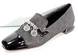 Туфли женские на низком каблуке от производителя модель КЛ2001-1, фото 9