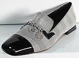 Туфли женские на низком каблуке от производителя модель КЛ2001-1, фото 7