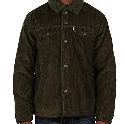 Зимняя вельветовая куртка Levis Trucker - Rosin Green (XL)