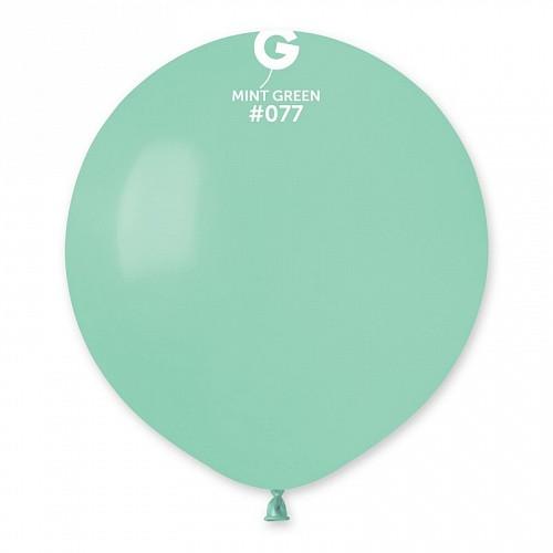 """Латексна кулька пастель м'ятний 19""""/ 077/ 48см Mint color"""