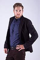 Стильный мужской класический пиджак на одну пуговицу черный