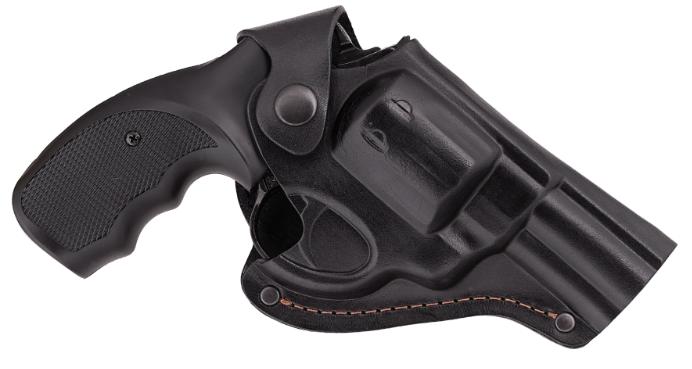 Кобура Револьвер 3 поясная Формованная (кожа, черная)