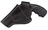 Кобура Револьвер 3 поясная Формованная (кожа, черная), фото 3