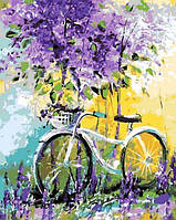 Картина по номерам Велосипед в зарослях лаванды. Худ. Ольга Дарчук, 40x50 см., Mariposa