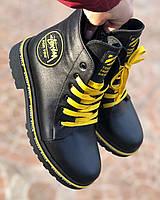 Модные ботинки женские кожаные на низком каблуке удобные повседневные комфортные 36 размер M.KraFVT 259 2021