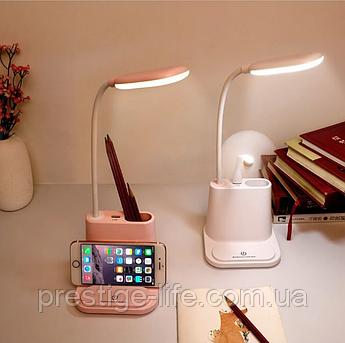 Led лампа с держателем для телефона multifunctional DESK LAMP+ Павербанк