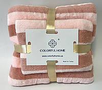 Полотенце рушник набор, 140*70 и 0.75*0.35, баня и лицо Премиум качество, толстая макрофибра