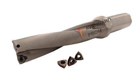 C25-4D25-103WC05 Сверло с механическим креплением пластин, фото 2