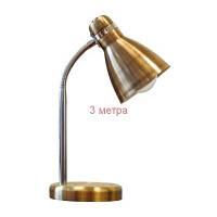 10081443 Светильник настольный TF-05 NEW Е27 металл античная латунь (DeLux)